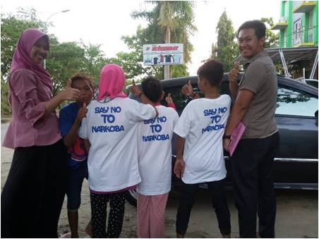FKM UHO Gelar Pengabdian Masyarakat Terkait Perilaku Ngelem Pada Anak Jalanan di Kecamatan Mandonga