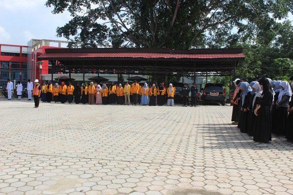 Upacara Peringatan Bulan K3 Nasional Lingkup FKM UHO