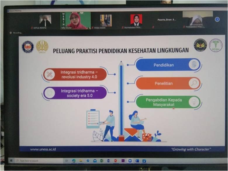 ENVIHSA FKM UHO Selenggarakan Webinar Nasional Kesehatan Lingkungan