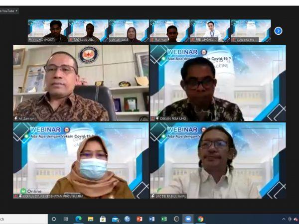 FKM UHO Selenggarakan Tiga Webinar Nasional di Bulan Februari 2021